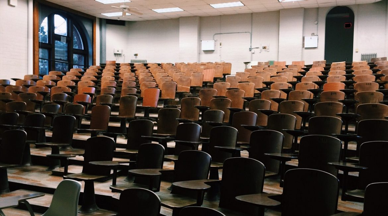 aula universitaria vuota